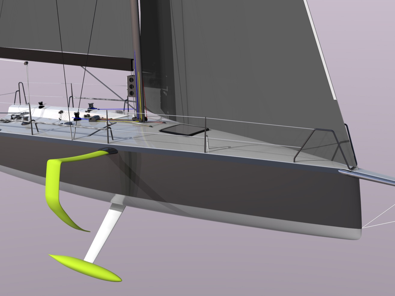 A cruiser racer Nautic DNA. Work in progress.